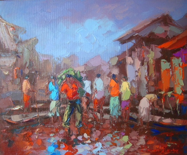 Paintings are the property of Cliver Flores Lanza, Pintor Amazonico