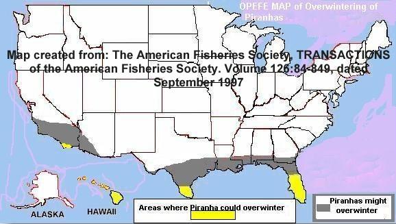 State by State List of Statutes - Prohibit Piranha